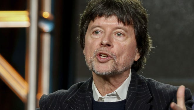 "Well-known documentary filmmaker Ken Burns will be in South Jersey this weekend to premiere the restored version of his first documentary, ""Brooklyn  Bridge."" Here Burns speaks at PBS' 'The Vietnam War' panel at the 2017 Television Critics Association press tour."