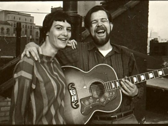 Terri Thal and Dave Von Ronk in the 1960s.  Courtesy