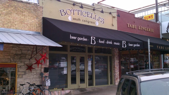 Exterior shot of Botticelli's, 1321 S. Congress Ave.