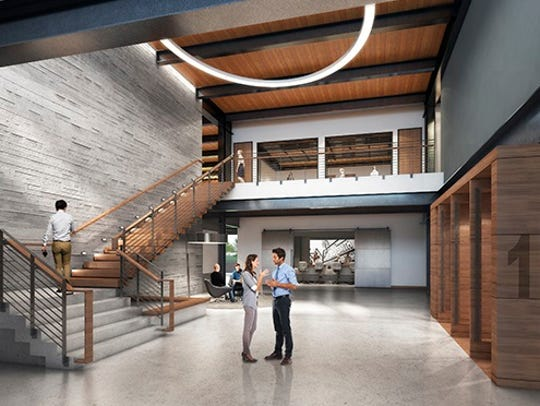 A rendering of C.D. Smith's new lobby.