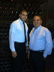Owner Moe Abdelmasih, right, and his son, Mina, just