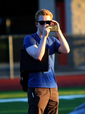 Journalist Dylan Manfre in action at the Snapple Bowl XXV practice on July 9.