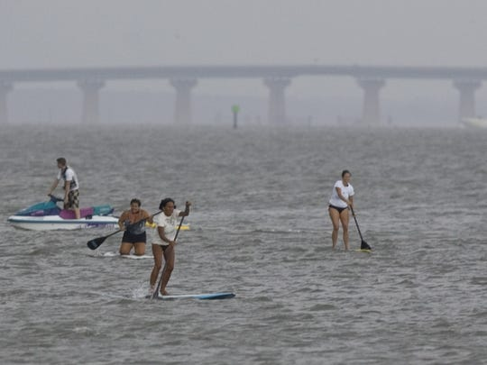 The inaugural Ladies Paddle Challenge takes place at Bayview Park in Brant Beach on Friday July 31, 2009.