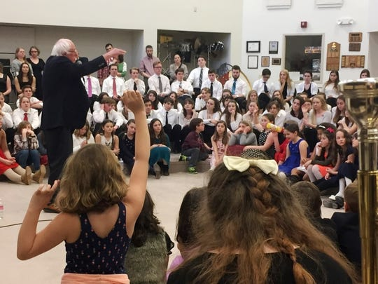 Sen. Bernie Sanders, I-Vt., responds to questions posed