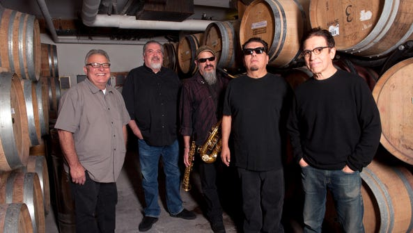Los Lobos, from left, are Conrad Lozano, David Hidalgo, Steve Berlin, Cesar Rosas and Louie Perez.