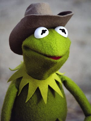 "Kermit the Frog sees America on a cross-country trip to Hollywood in ""The Muppet Movie."""