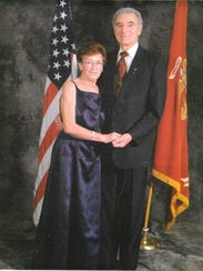 Former Judge Donald Mark and his wife, Rosalie Lanza.