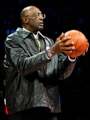 """""""As Mr. Gores said, I think the timing is right for the Pistons to come back and be a part of this renaissance in the city,"""" Pistons great Bob Lanier says."""