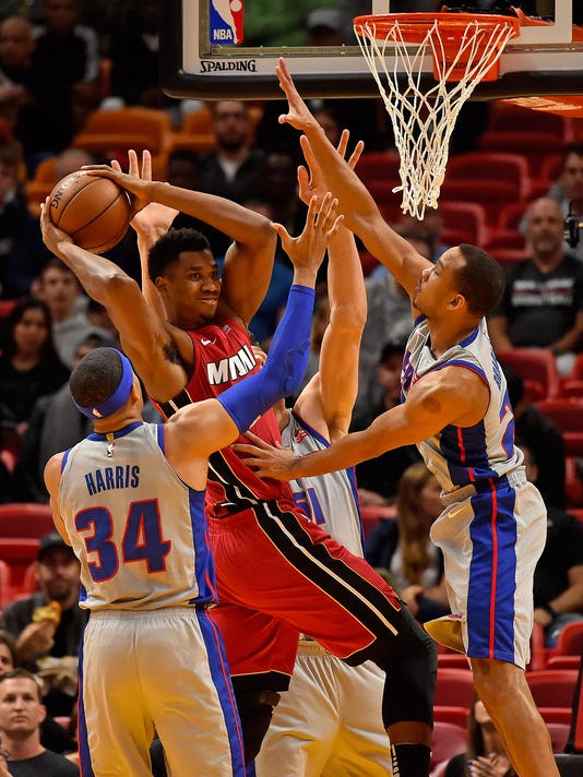 NBA: Detroit Pistons at Miami Heat, Pistons defense