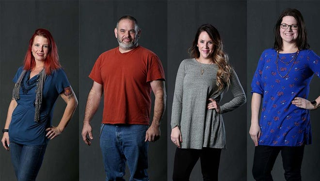 Shirleen Reynolds, Erick Carlsen, Rose Tuers and Kendra Perry have all lost more than 50 pounds in the past year or two.