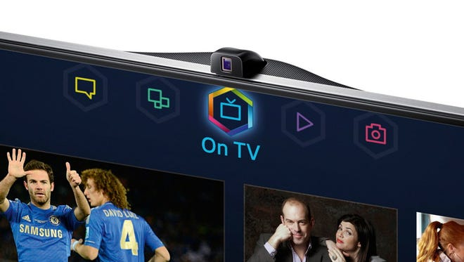 A couple of Samsung Smart TVs, such as the F8000 Series, utilize its integrated camera to sense whether someone is in the room.