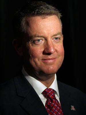 Arizona Wildcats athletics director Greg Byrne, pictured during the 2014 Sports Business Awards at the New York Marriott Marquis, is leaving the Arizona Wildcats to be the new Alabama athletic director.