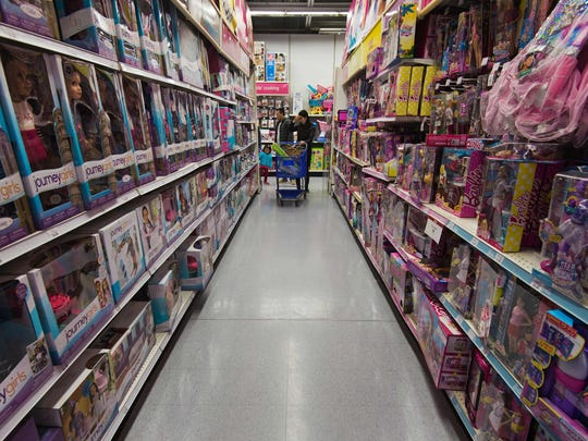 Toy aisle at Toys R' Us.