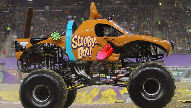 The Scooby-Doo! monster truck is sure to be a favorite with the kids who come to Monster Jam next weekend at the Resch Center. It's driven by Brianna Mahon, a salon owner from Illinois who was named Rookie of the Year last month.