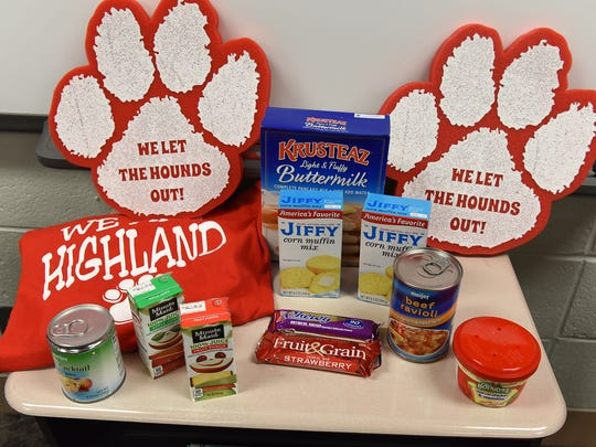 Some of the food and drink that makes it into the Blessings in a Backpack program.