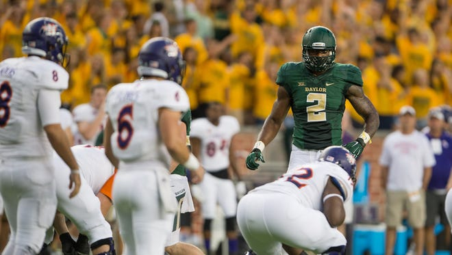 Baylor Bears defensive end Shawn Oakman is a 6-foot-9, 280-pound tour de force on a unit filled with improving talent.