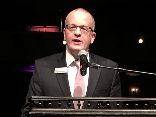 Strand-Capitol President and CEO Todd Fogdall announces