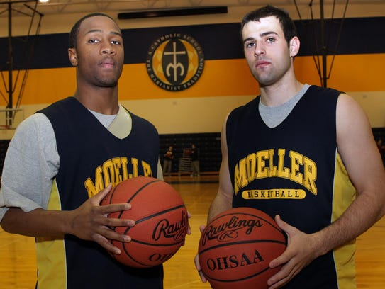 Moeller High School basketball players Charlie Byers