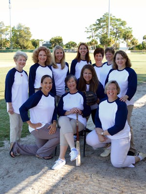 Some of the National Philanthropy Day committee members during a meeting at Historic Dodgertown. Front: Brenda Sposato, co-chairs Peggy Gibbs and Judith Lemoncelli, and Michele Peters. Back: Ann Marie McCrystal, Kerry Bartlett, Jessica Schmitt, Julia Keenan, Carol Kanarek, Nancy McCurry and Ruth Ruiz.