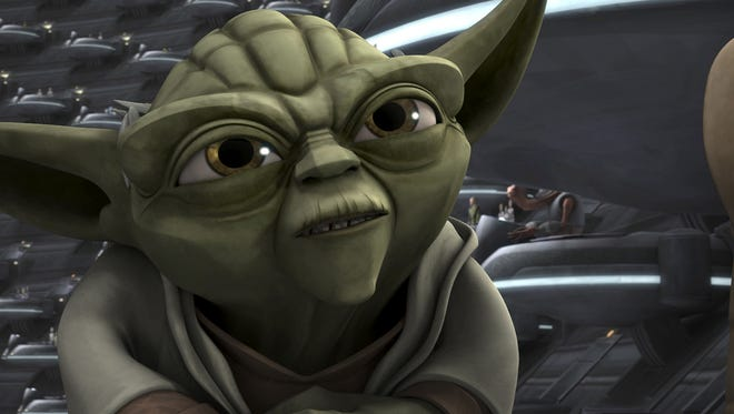"Yoda (voiced by Tom Kane) stars in a story arc in the sixth and final season of the animated series ""Star Wars: The Clone Wars,"" coming to Netflix in March."