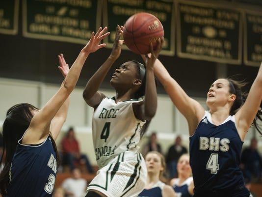 Burlington vs. Rice Girls Basketball 02/18/16