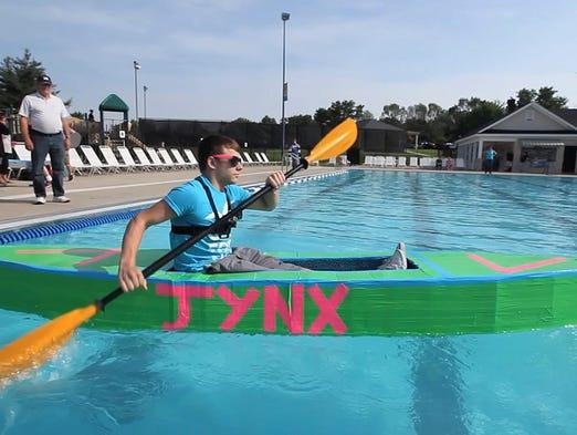 A Fun Ride At Jeffersontown Highs Cardboard Boat Race