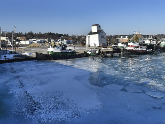 The embattled waterfront property on Sturgeon Bay's