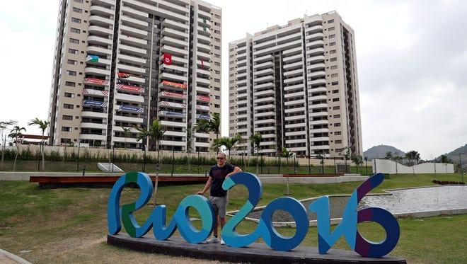 ; Denmark swimmer Magnus Westermann poses for a picture at Athlete Village prior to the 2016 Rio Olympic games.