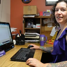 Stephanie Shohet, 42, of Burlington is office manager at North End Studios in Burlington.