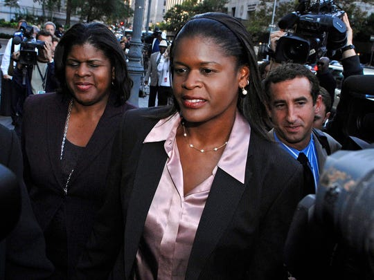 Former Knicks executive Anucha Browne Sanders   won an $11.5 million harassment suit against  Isiah Thomas, the Garden and chairman Jim Dolan in 2007.