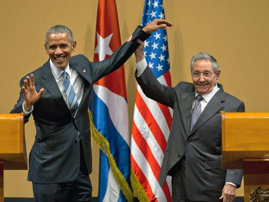 President Barack Obama and Cuban President Raul Castro