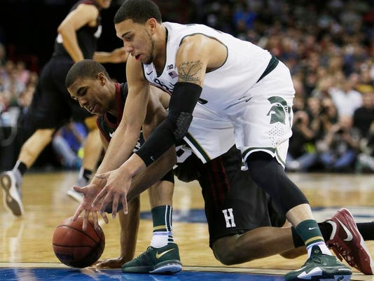NCAA Harvard Michigan St Basketball