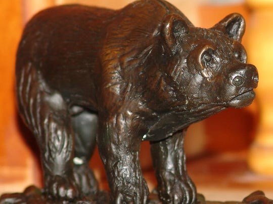 """Grizz"" is a popular piece by Dale Sheldon of Conrad."