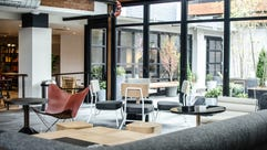 The new Freepoint Hotel in Cambridge, Mass., has many
