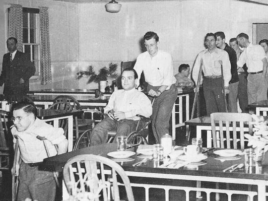 The original WWRC cafeteria was a holdover from the army hospital days.