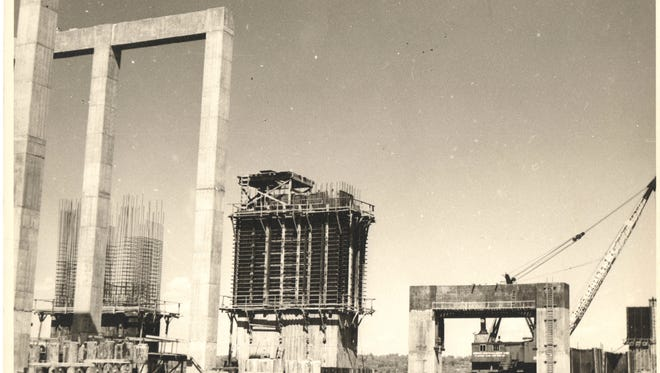 The Historical Society of the Nyacks is hosting an exhibit featuring the photographs of construction of the original Tappan Zee Bridge. They were taken by the late Leonard Cooke, of Nyack.