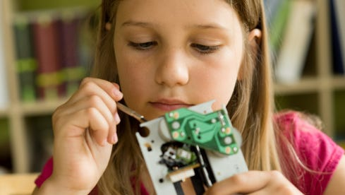 """DiscoverE has designated Thursday as """"Girl Day"""" — a part of its annual Engineer's Week."""