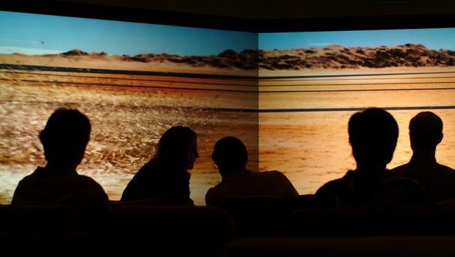 ASU's Decision Theater is a group meeting space that provides advanced modeling and simulation to easily understand and interpret vast amounts of data.
