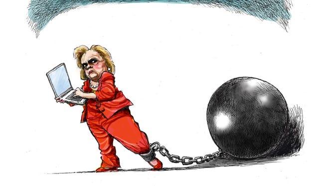 Clinton tries to move ball forward