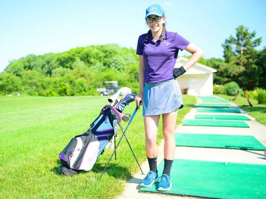 Sussex Academy golfer Hanna Lydic was the only eighth-grader