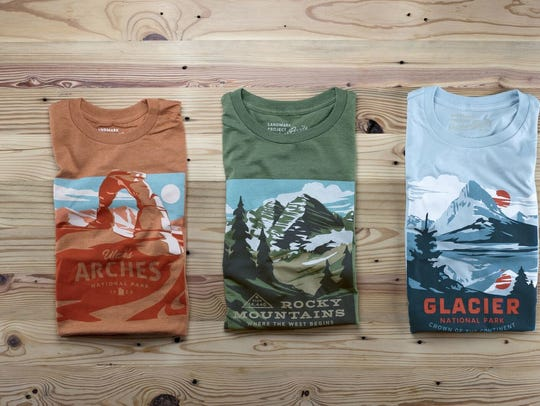 The Landmark Project is a Greenville-based outdoor apparel brand known for artful renderings that honor local and national natural landmarks.