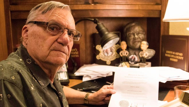 Former sheriff Joe Arpaio speaks to the Arizona Republic about his pardon received from President Donald Trump.