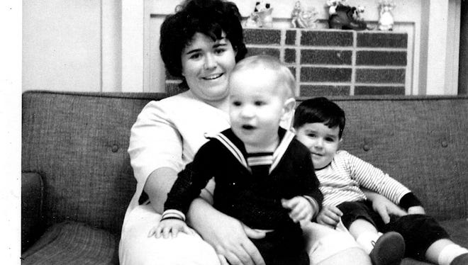Brenda Gentry holds one of her sons, Stephen, as her oldest son, Jeffrey, sits to her side in the photo from around 1969.