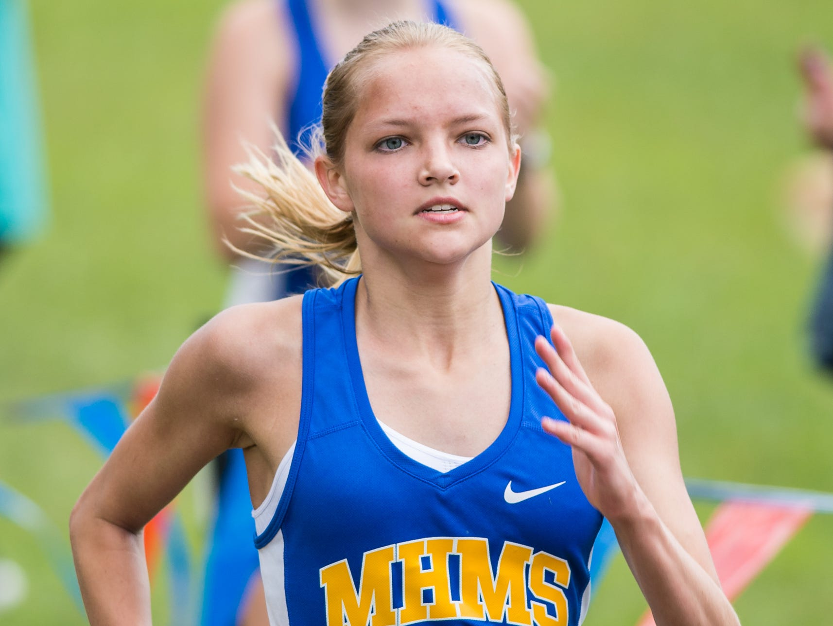 Merrol Hyde Magnet freshman Kaelyn Meier won the girls' 5,000-meter run at the Beech Invitational cross country meet on Saturday.