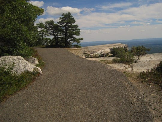 A section of the Hamilton Point Carriage Road at Minnewaska State Park Preserve in Ulster County is shown after an $825,000 restoration project.