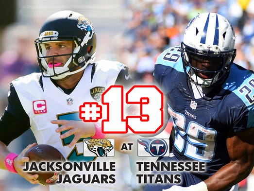 13. Jaguars at Titans: Thursday's showdown between
