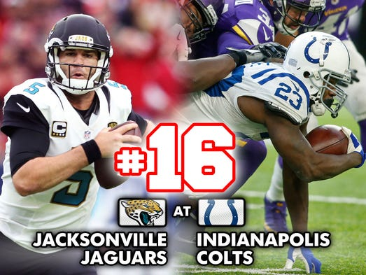 16. Jaguars at Colts: Both Jacksonville and Indianapolis