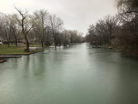 The Thorofare Canal in Grosse Ile, part of the Detroit