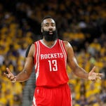 James Harden wasn't selected to any of the All-NBA teams this year.
