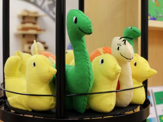 The Little Toys character created by Erin Brown include Ducky, T.L. (Terrible Lizard) and Snail.